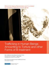 Trafficking in Human Beings Amounting to Torture and other ... - OSCE