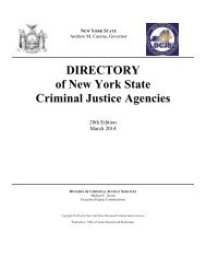 DIRECTORY of New York State Criminal Justice Agencies