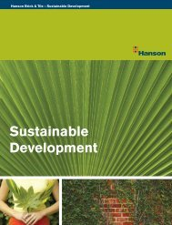 Sustainable Development - Hanson Roof Tile