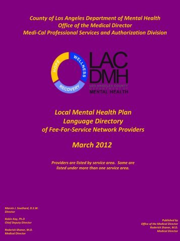 March 2012 - LA County Department of Mental Health