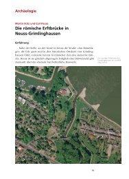 Die römische Erftbrücke in Neuss-Grimlinghausen - Clemens-Sels ...
