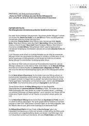 Protokoll PARTNER DER POLITIK 10 06 09 - Berliner Stiftungswoche