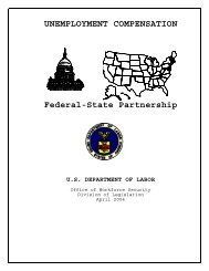 Federal-State Partnership - Unemployment Insurance