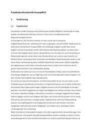 Projektabschlussbericht bewegtBILD 1. Evaluierung - Youth Bank