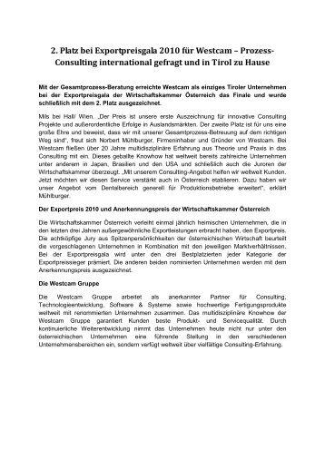 Pressetext - WESTCAM Gruppe