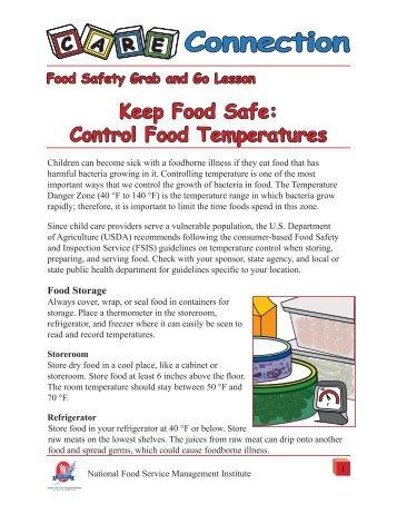 Keep Food Safe: Control Food Temperatures - National Food ...