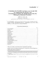 2. Richtlinie 85/374/EWG des Rates vom 25. Juli 1985 zur ...