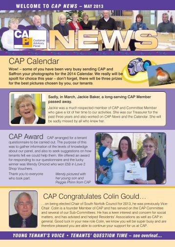 CAP News - May 2013 - Saffron Housing
