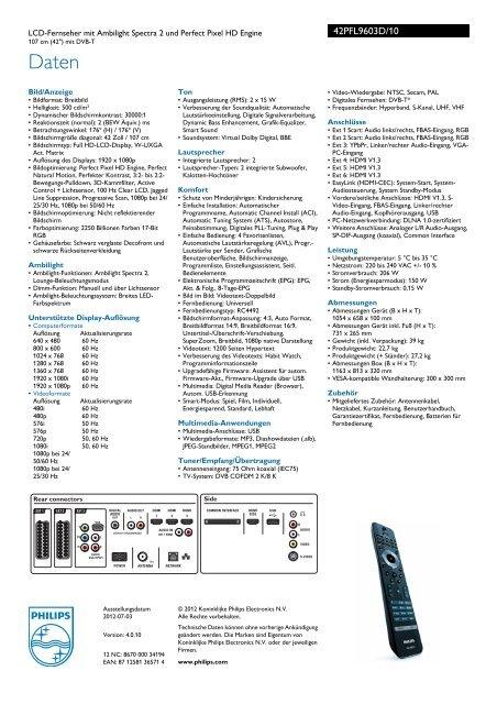 Philips 42 pfl 9603D/10
