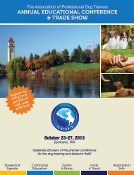 annual educational conference & trade show - Association of Pet ...