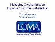 Managing Investments to Improve Customer Satisfaction