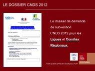 Présentation des projets d'actions 2012 - CROS de Poitou-Charentes