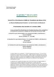 Grand Prix d'Architecture 2008 de l'Académie des Beaux-Arts ...