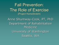 Fall Prevention - Aging and Disability Services