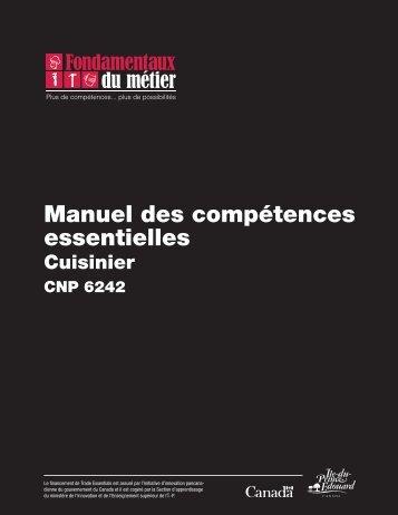 Manuel des compétences essentielles : Cuisinier - Base de ...