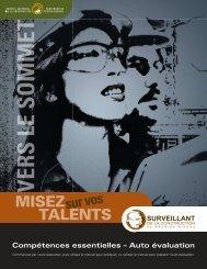 Compétences essentielles – Auto évaluation : Superviseurs de ...