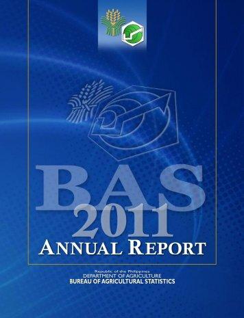 Annual Report 2011 - Philippines Bureau of Agricultural Statistics
