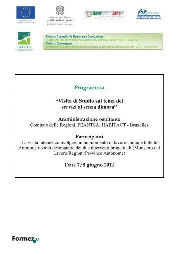 programma visita senza dimora giugno 2012.pdf - Innovatori PA