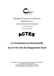 La formation professionnelle au service du ... - Centre Inffo