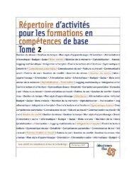 Répertoire d'activités pour les formations en compétences de base ...