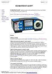 EUROTEST 61557 - KALA elektro