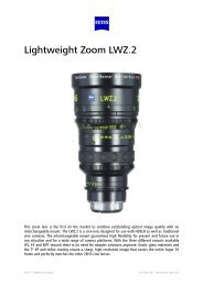 Brochure Lightweight Zoom LWZ .2 - Carl Zeiss, Inc.