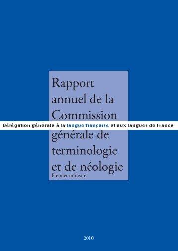 2010 - Délégation générale à la langue française et aux langues de ...