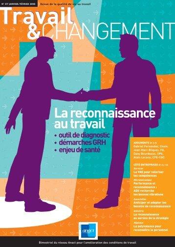 """Réseau Anact - """"La reconnaissance au travail"""""""