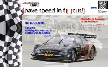 {have speed in f[ ]cus!} DTM History | Mediaday und Test Hockenheim