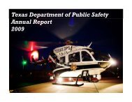 2009 annual report - Texas Department of Public Safety