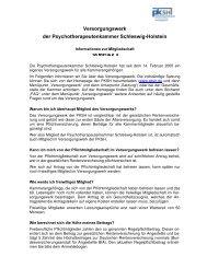 Versorgungswerk der Psychotherapeutenkammer SchIeswig HoIstein