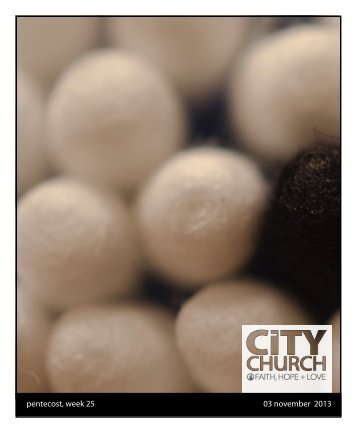 Download Worship Bulletin - CityChurch