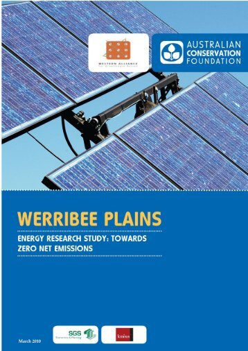 Werribee Plains Energy Research Study - Australian Conservation ...