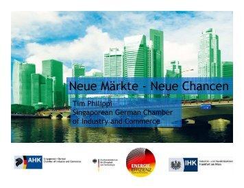 Neue Märkte - Neue Chancen - AHK Singapur