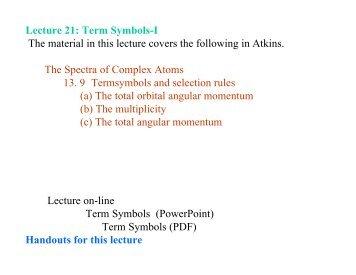Atomic state and term symbol term symbol i cobalt urtaz Images