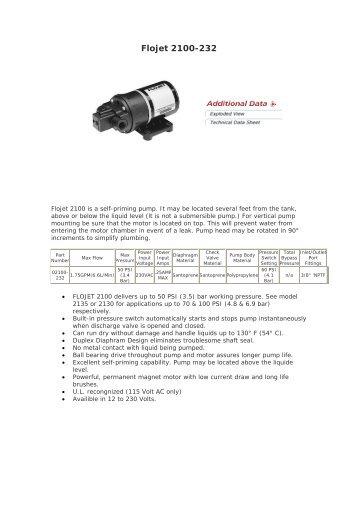 Flojet 2100-232 - IqTMA-UVa