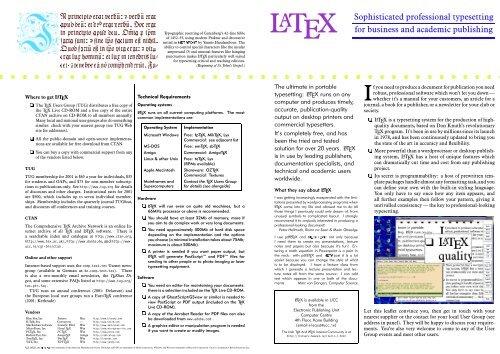 Typesetting latex