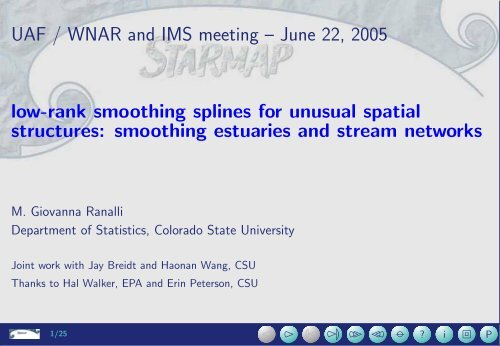 Low-rank Smoothing Splines for Unusual Spatial Structures