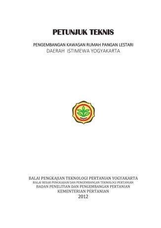 PETUNJUK TEKNIS - BPTP Yogyakarta