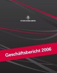 rt 2006 Geschäftsbericht 2006 - Studio Babelsberg