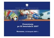 Prezentacja wyników III kwartał 2007 - Pelion.eu