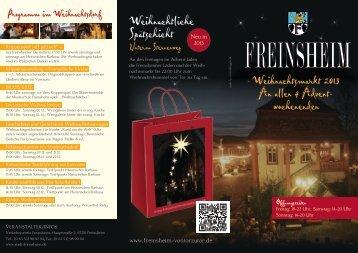 Weihnachtliche Spätschicht - Stadt Freinsheim
