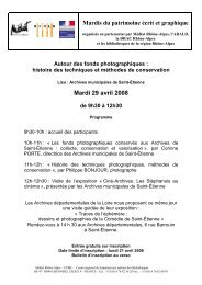 Programme et bulletin d'inscription à télécharger - Arald