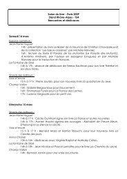 Quelques rencontres et dédicaces au programme - Arald