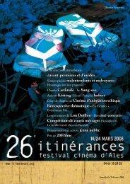 le Dossier de Presse du 26° Festival Cinéma d'Alès itinérances 2008