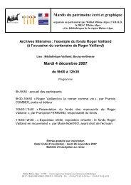 Mardis du patrimoine écrit et graphique Mardi 4 décembre ... - Arald