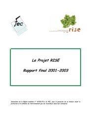 Le Projet RISE Rapport final 2001-2003