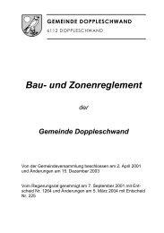 Bau- und Zonenreglement - Gemeinde Doppleschwand