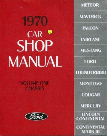 1970 Ford Car Shop Manual - ForelPublishing.com