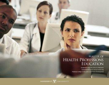 Health Professions Education - Vanderbilt School of Medicine ...